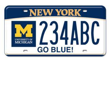 RT @umichLSA: Are you a U-M alum living in #NewYork? We've got news for you. 🚙 @UMich license plates are now available in NY state! https:/…