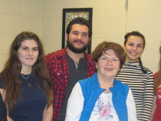 BCS instructor Marija Rosic (center) with Fall 2016 BCS students