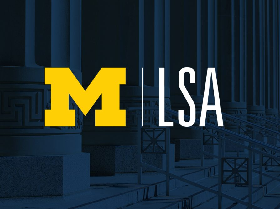 M|LSA on a background of Angell Hall columns