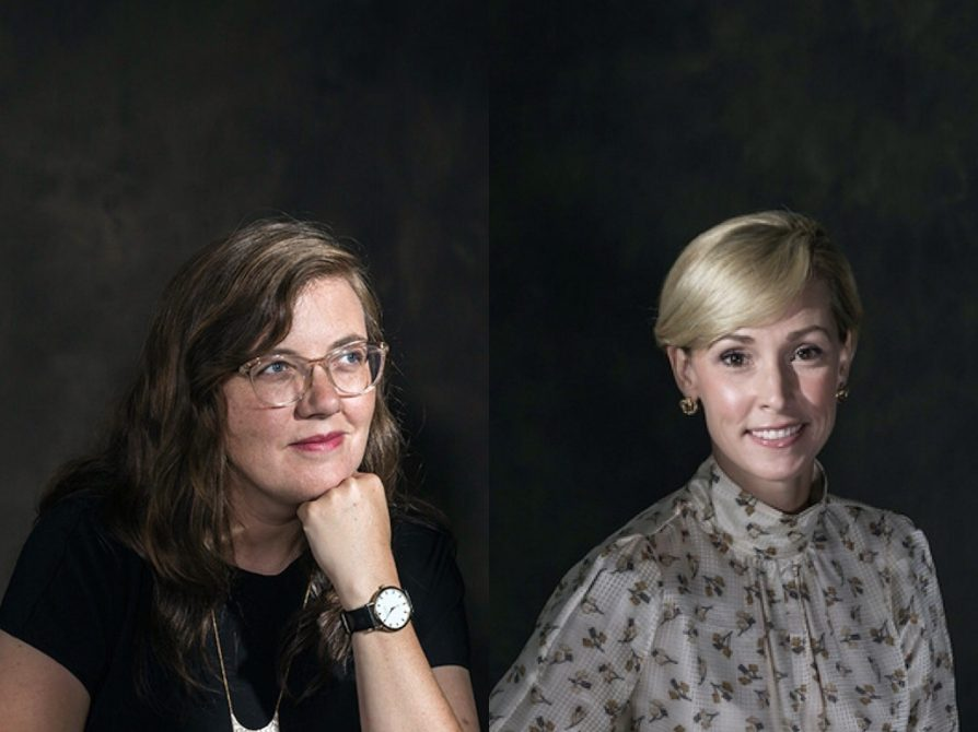 Headshot of Emily Linn on the left; of Rebecca O'Reilly on the right.
