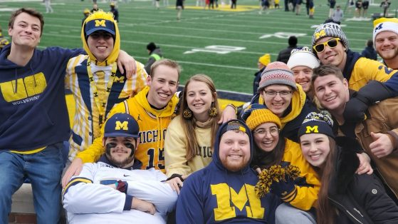 Fallon and friends at the Big House for a UM Football game