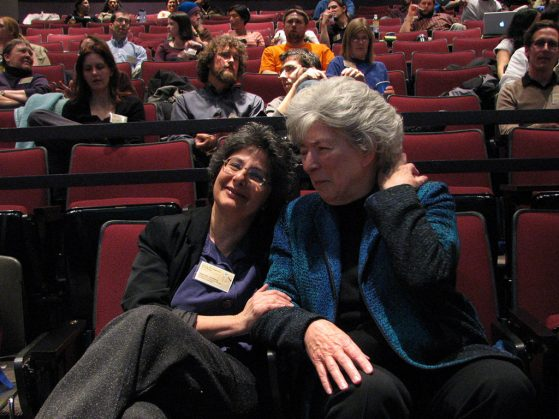 Deborah Goldberg and Nancy Walls at the Young Scientists Symposium in 2009