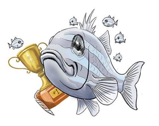 Fish carrying trophy.