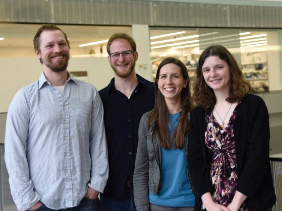 Katma Award winners and coauthors Brian Weeks, Ben Winger, Giorgia Auteri, Teresa Pegan.