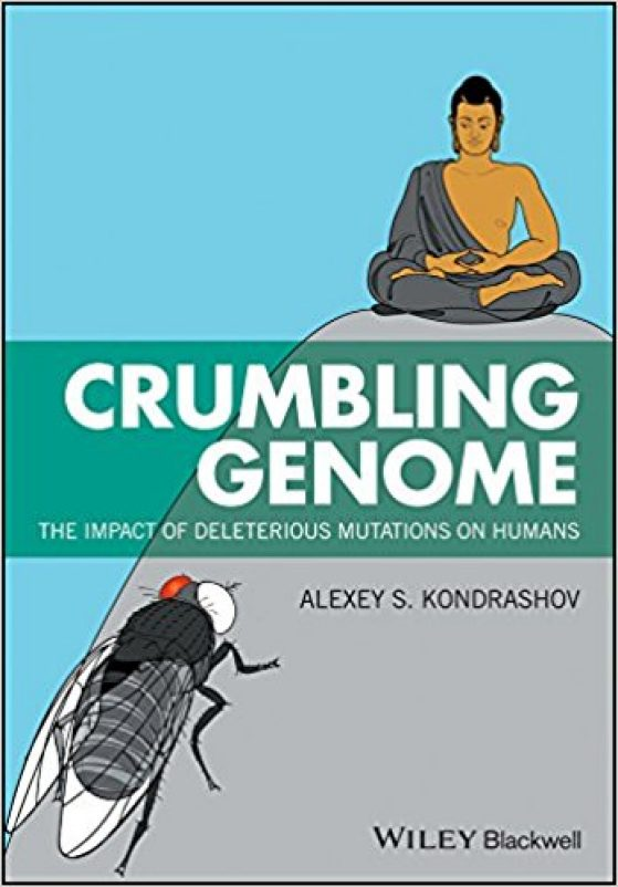 """Crumbling Genome"" book cover"