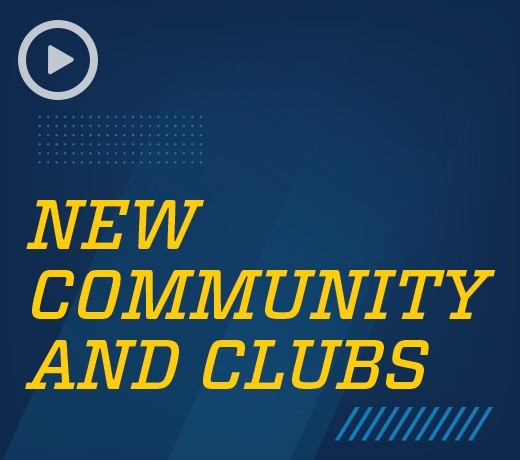 New community and clubs video preview