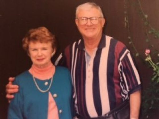 Dr. Stewart Fliege and Lo Coombs, wife of Dr. Clyde Coombs