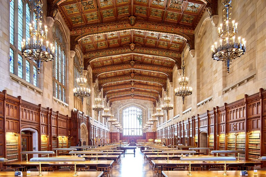 U-M Law Library reading room