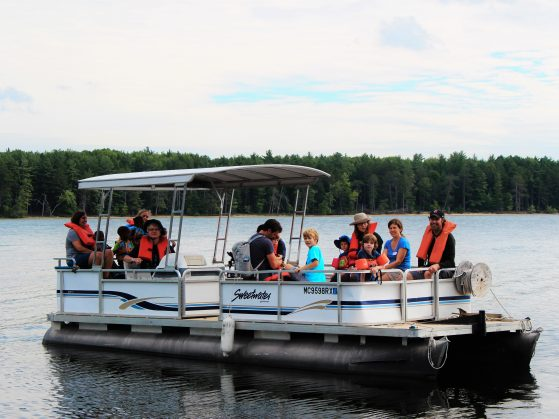 Boat excursion for the aquatics field trip.